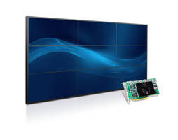 Matrox Unveils World's First Single-Slot Graphics Card to Drive Nine 1920x1080 Displays for 3x3 Video Walls