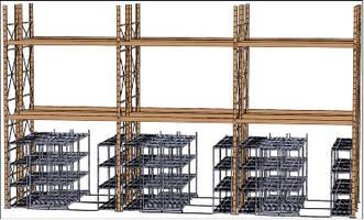 Storage System fits underneath pallet rack.
