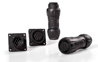 Harsh Environment Connectors feature IP68 and IP69K ratings.