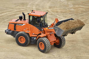Wheel Loader offers high-lift option.