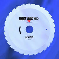 Steel Saw Blades cut through tough hydraulic hose.