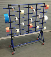 Label/Tape Cart keeps materials organized and within reach.