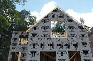 Air/Water Barrier System eliminates need for house wrap.