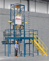 Bulk Bag Discharger employs hopper shuttle system.
