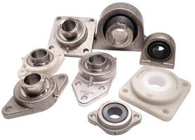 Mounted Plane/Ball Bearings are available with stainless housings.