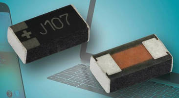 Solid Tantalum Chip Capacitors conserve space in electronics.