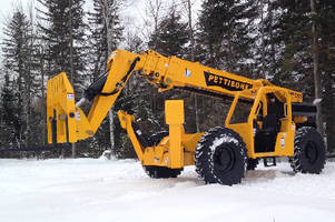 Telehandler offers maximum lift height of 57 ft.