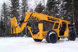 Telehandler offers maximum lift height of 57 ft.