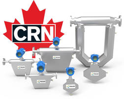 AW-Lake Company TRICOR® Coriolis Mass Flow Meters are CRN Certified for Use in Five Provinces throughout Canada