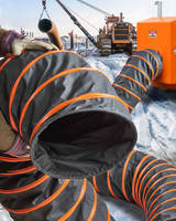 Portable Heater Duct helps keep workers comfortable.