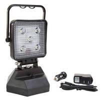 Portable Rechargeable LED Floodlight Lantern has magnetic base.