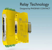 SIL 3-Rated Safety Relays measure as thin as 6 mm.