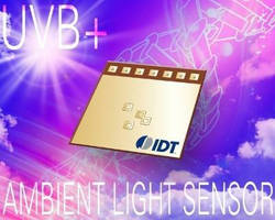 Optical Sensor detects UVB and ambient light.