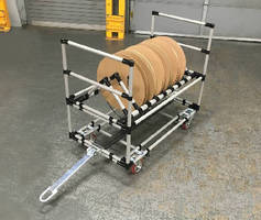 Custom Cart handles reels and spools of wire and hose.