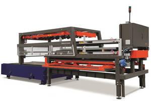 Material Handling System optimizes laser cutter loading/unloading.