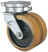 Heavy-Duty Twin-Wheel Casters offer wheel and directional locks.