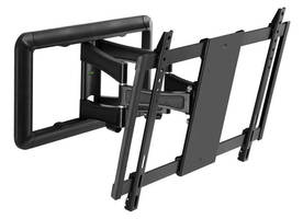 "VMP Features ""Extra Medium"" Flat Panel Low Profile Articulating Wall Mount at 2016 ISC West"