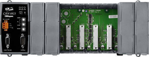 CANopen Remote I/O Unit offers 8 I/O expansion slots.