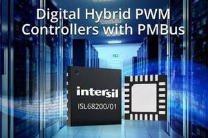 Digital Hybrid DC/DC Controllers support PMBus(TM).