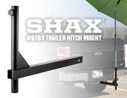 Trailer Hitch Mount attaches umbrella to trucks.