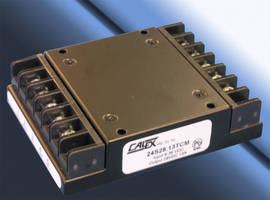 Chassis Mount 350 W DC/DC Converter has 9-36 Vdc input range.