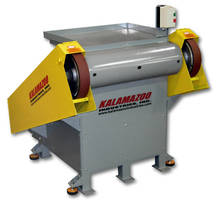 Heavy Duty Backstand Grinder features dual head design.
