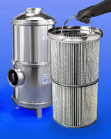 Vacuum Pump Inlet Trap features 80 sq ft of filter media.