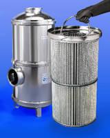 Vacuum Pump Inlet Trap features 80 sq ft of filter media.