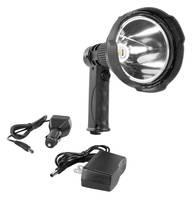 Rechargeable 25 W LED Spotlight has ergonomic, pistol grip design.