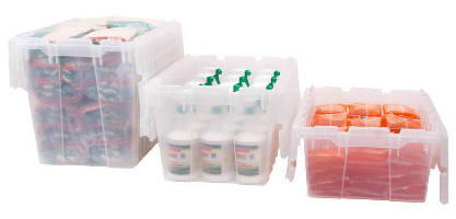 Attached Lid Containers come in clear option.