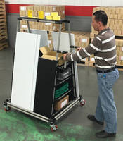 Material Handling Cart accommodates hard-to-handle parts.