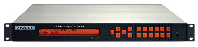 Receiver-Demodulator supports IPTV and broadcast distribution.