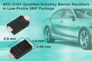 Schottky Barrier Rectifiers feature low-profile SMF package.