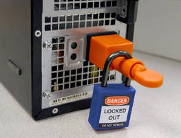 IEC Electrical Plug Lockout Device prevents tampering.