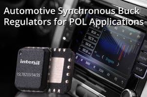 Synchronous Buck Regulators step-down 5 V rails to point-of-load.