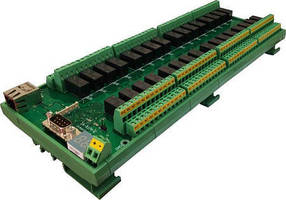 Web Controlled DPDT Relay Controller features 32 channels.