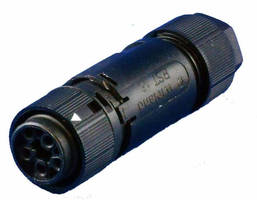 Industrial Circular Power Connectors feature Type 4X ratings.
