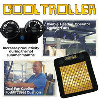 Cooling Seat, Fans keep forklift operators safe from summer heat.