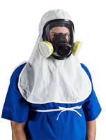 Sterile Elasticized Hood closes gaps in respirator protection.