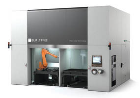 Five-Axis Fiber Laser System machines 3D parts.