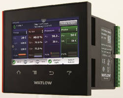 Temperature and Process Controller provides trend charts.