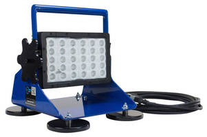 LED Pedestal Mount Work Light (150 W) is suitable for wet areas.