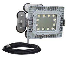 Explosionproof 150 W LED Light has adjustable magnetic base.