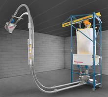 Bulk Bag Weigh Batching System integrates tubular cable conveyor.