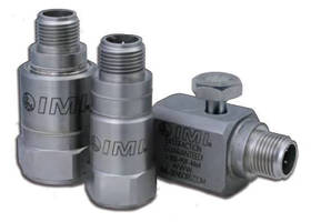 Stainless Steel Accelerometers feature M12 connector.
