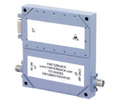 GaN Coaxial Power Amplifier operates in 2-6 GHz band.
