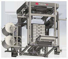 Stretch Hood Machine secures tall and wide pallet loads.