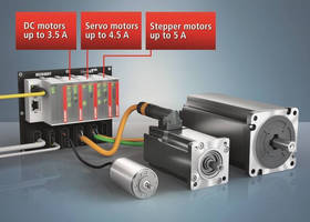 EtherCAT Plug-in I/O Modules integrate compact drive technology.