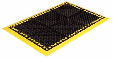 Heavy-Duty Rubber Mat prevents slips, fatigue in wet areas.