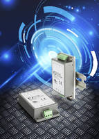 DC-DC Converters offer chassis or DIN rail mounting.